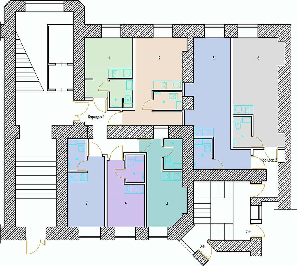 Планировки студий 8-я линия ВО, д.41